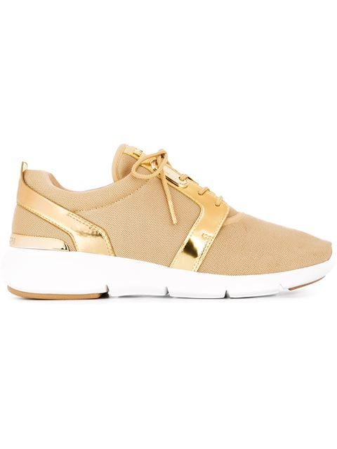 MICHAEL MICHAEL KORS Panelled Metallic Sneakers. #michaelmichaelkors #shoes #sneakers