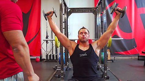 Tip The Ahrens Press For Wider Shoulders Shoulder Workout Shoulder Training Muscle Fitness