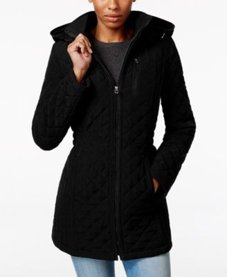 Laundry By Design Hooded Quilted Jacket Macys Com Quilted Jacket Coats For Women Clothes