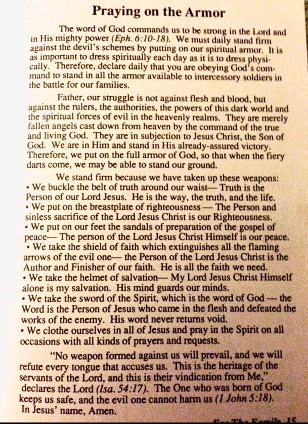 Image result for spiritual warfare prayer