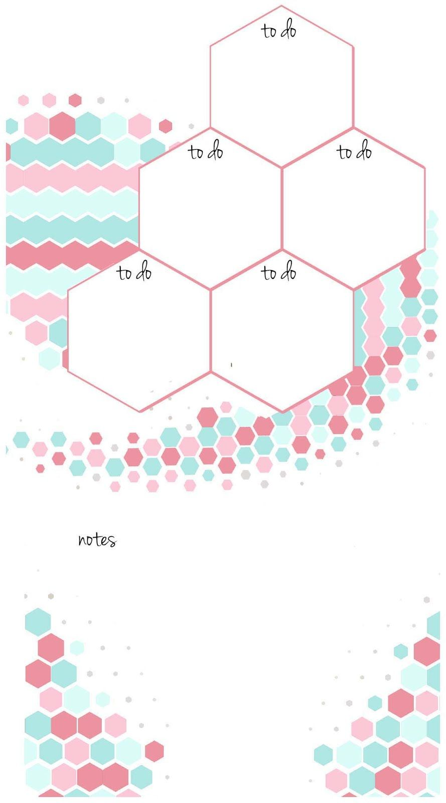 Candy hexagon planner inserts undated a u a week on a page to do