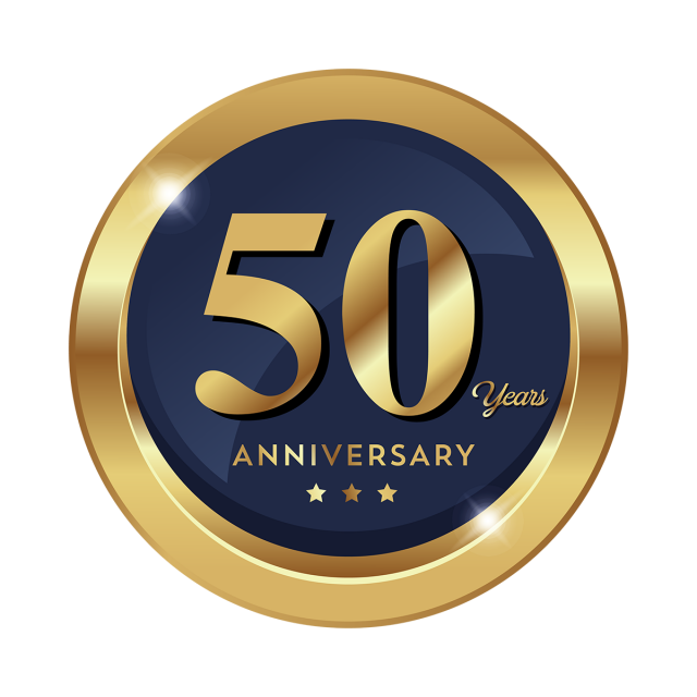 50th Anniversary Badge Logo Icon, Logo Icons, Badge Icons