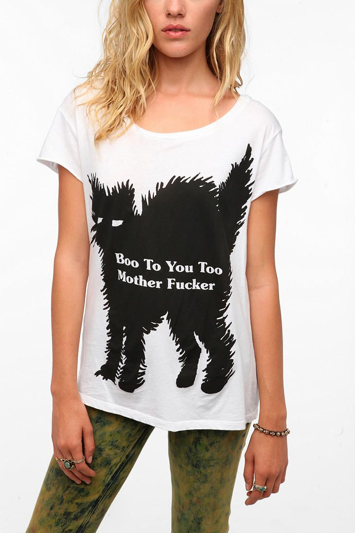 Altru Boo M Fker Boyfriend Tee Cat Fashion Pinterest