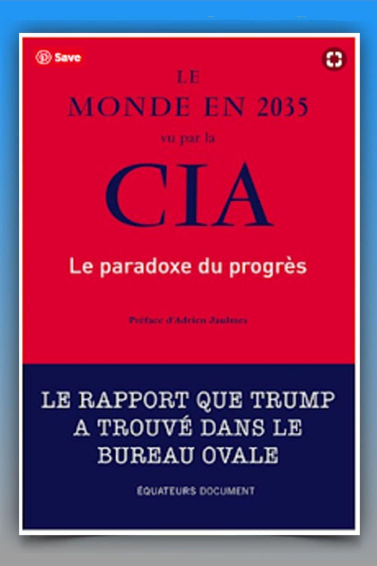 Le Monde En 2035 Vu Par La Cia Pdf En 2020 Bureau Ovale Le