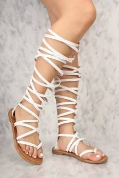 Sexy white sandals