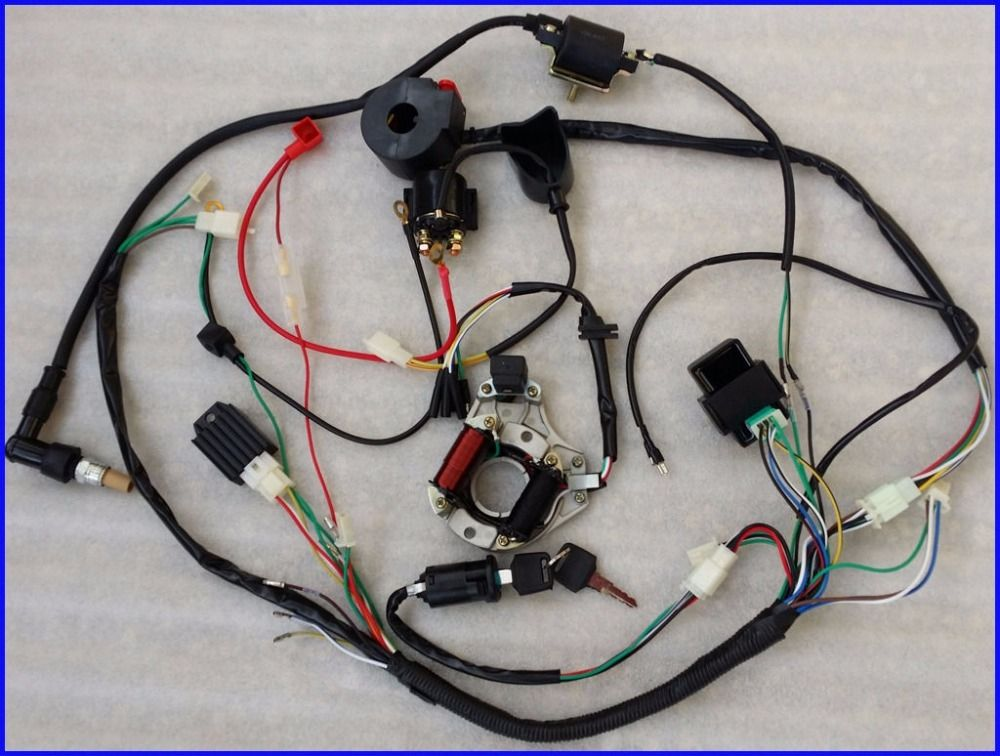 Wiring harness cdi coil kill key switch 50cc 110cc 125cc atv quad wiring harness cdi coil kill key switch 50cc 110cc 125cc atv quad bike buggy new freerunsca Image collections