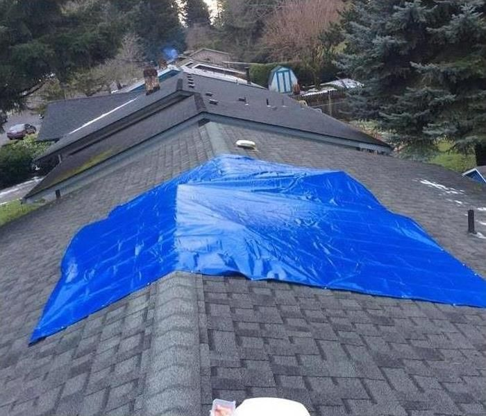When Waiting For Roofers To Do Repairs Servpro Of Gresham Can Help When Faced With A Leaky Or Damaged Roof It Is Restoration Services Photo Galleries Photo
