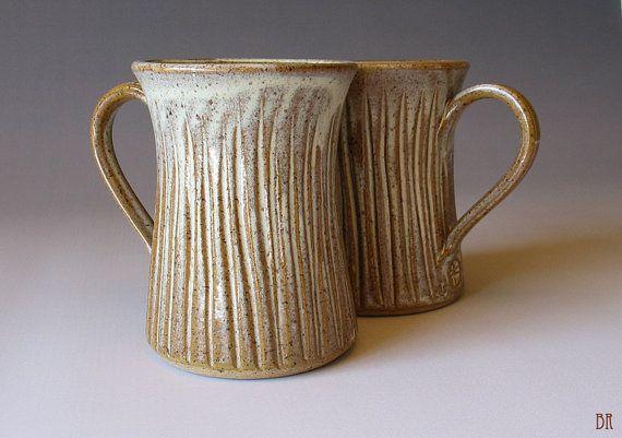 READY TO SHIP  Fluted Mug   Caramel Glaze  by DragonflyArts, $24.00