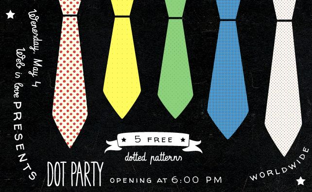 Dot Party, 5 free dotted patterns | Web is Love - web & design stuff