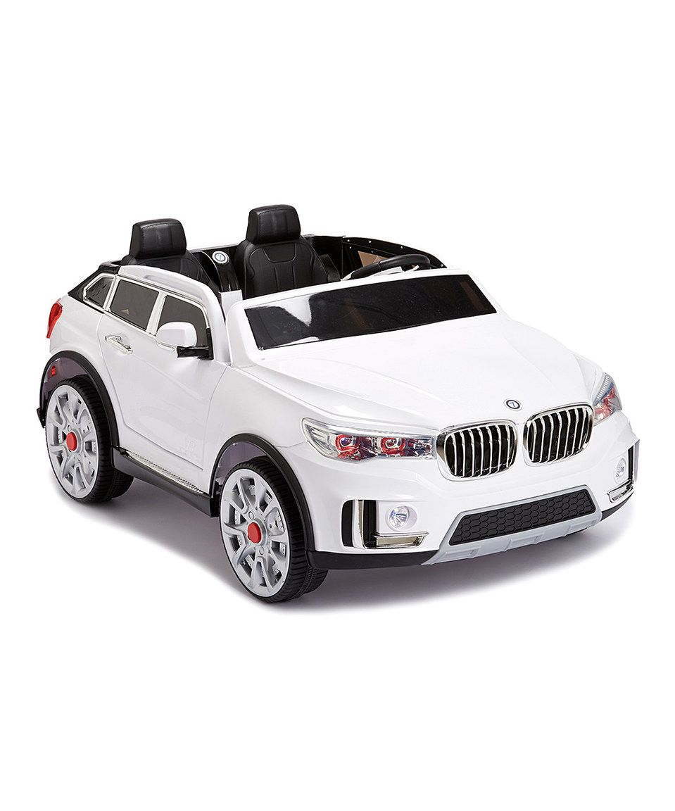 Another great find on #zulily! White Super 7 Two-Seater Car Ride-On by Best Ride On Cars #zulilyfinds