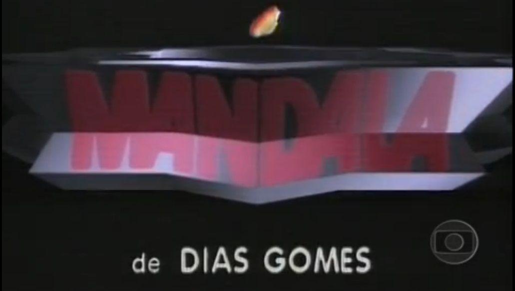 paulo gracindo - foto 0000 - take da abertura da novela MANDALA de Dias Gomes - lay-out criado por  Hans Donner  - realização da REDE GLOBO DE TELEVISAO - 1987