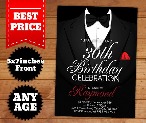 This Instant Downloadable Is For A Adult Birthday Invitation - How to make birthday invitation photoshop