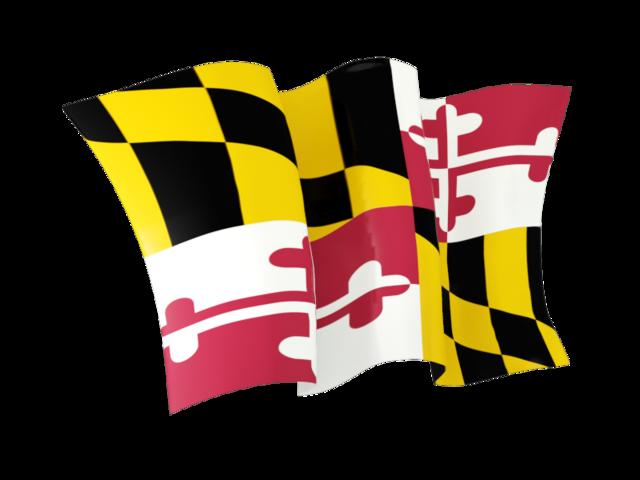 Waving Flag Maryland Flag Flag Maryland