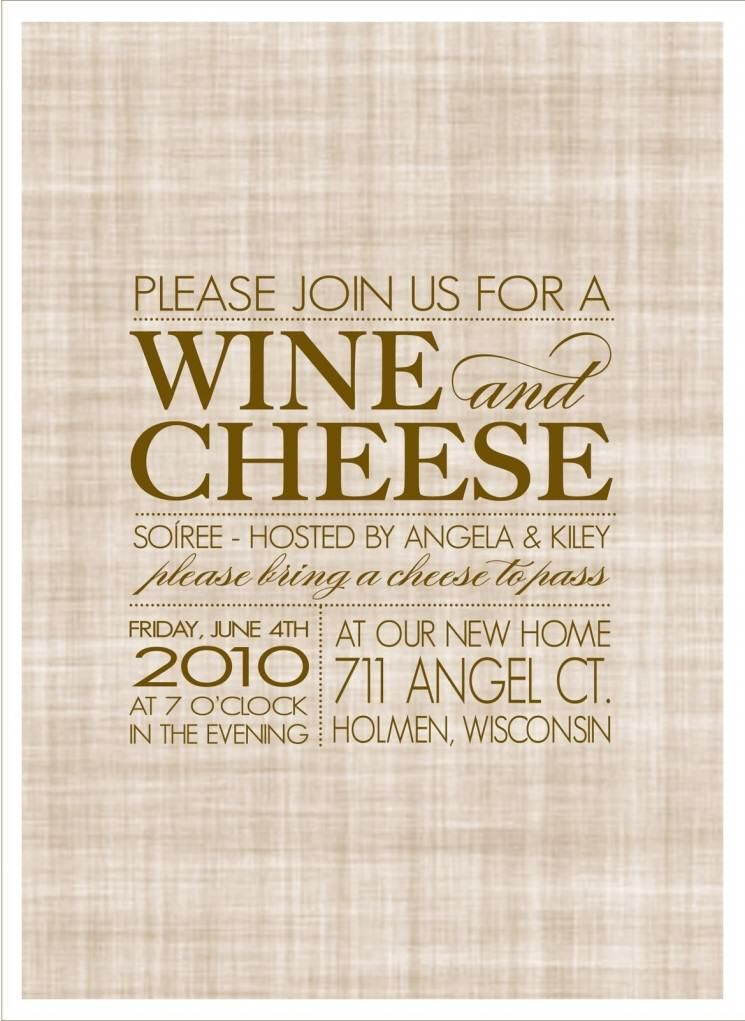 sample of wine and cheese party invitation | Wine And Cheese Party ...