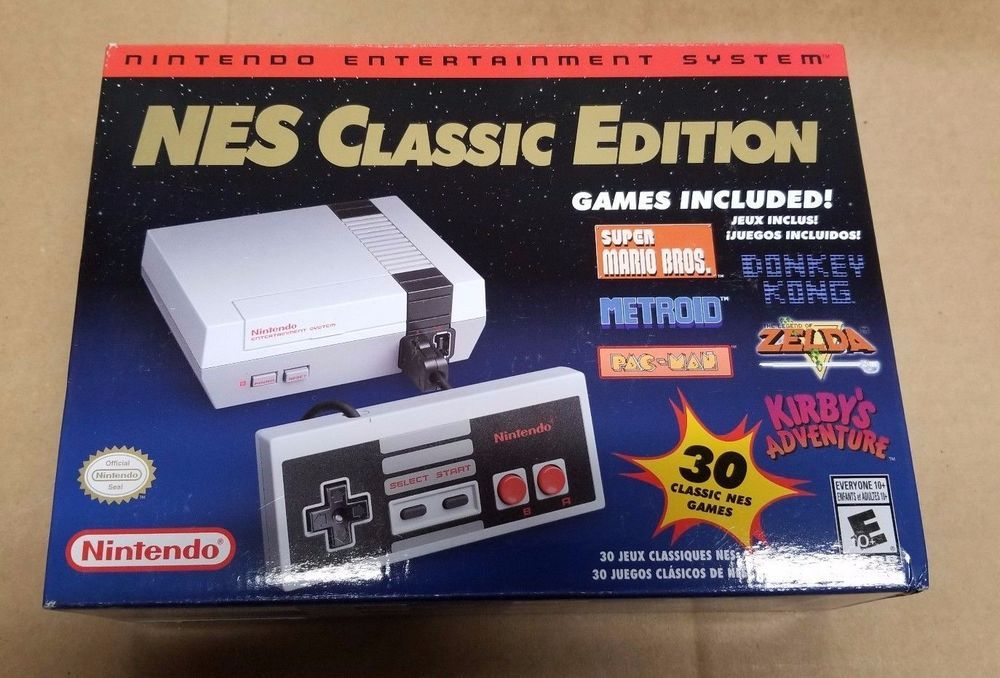 Nintendo Nes Classic Edition Mini Console 100 Authentic Brand