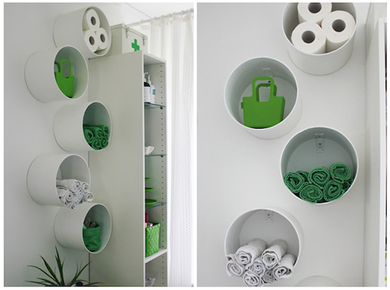 10 ideas diy para ba os peque os bathroom storage small - Ideas para decorar banos pequenos ...