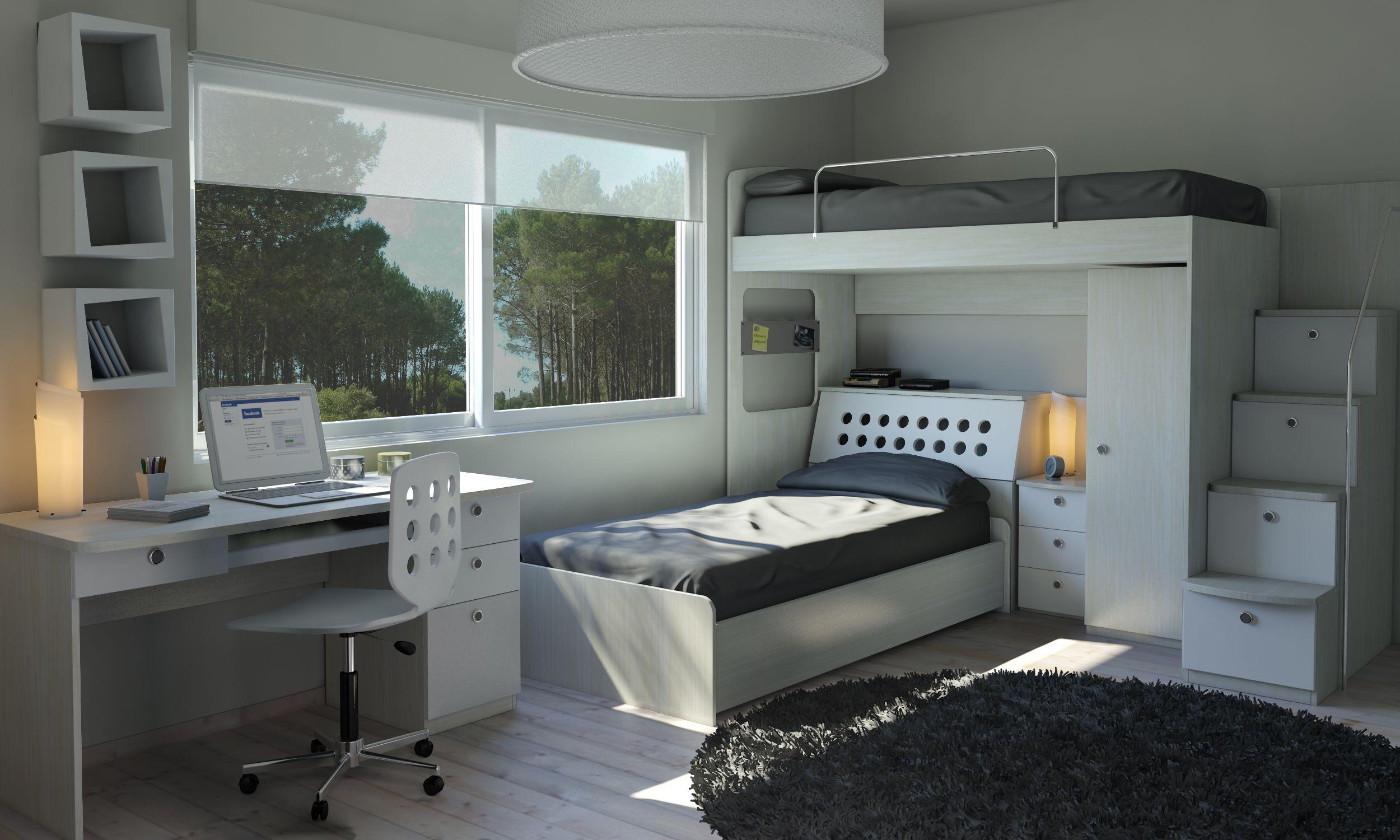 Juveniles chicos dormitorios para jovenes varones with for Muebles para dormitorios chicos