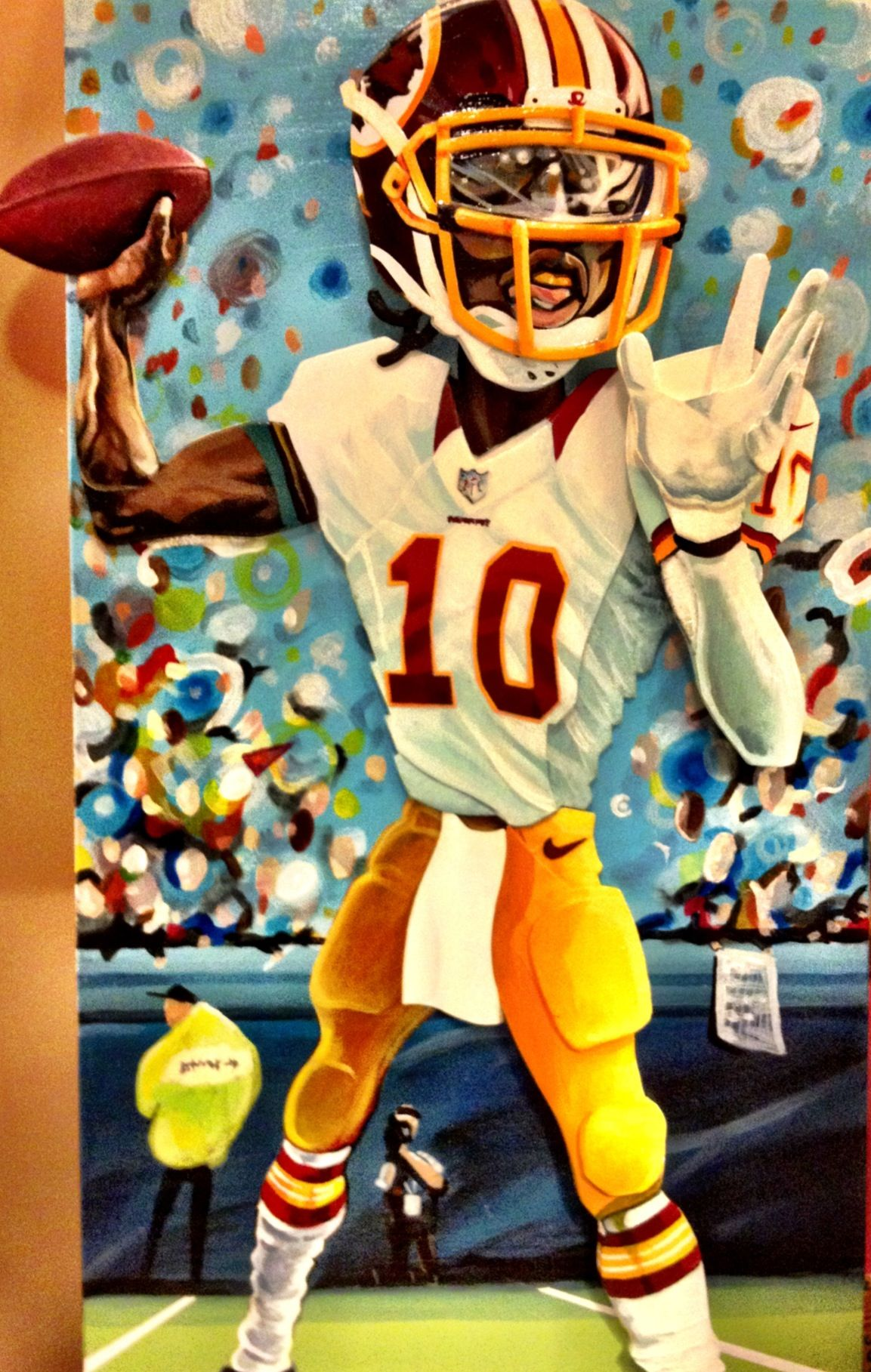 PopPop Art RG3, Redskins Sports art, Redskins logo