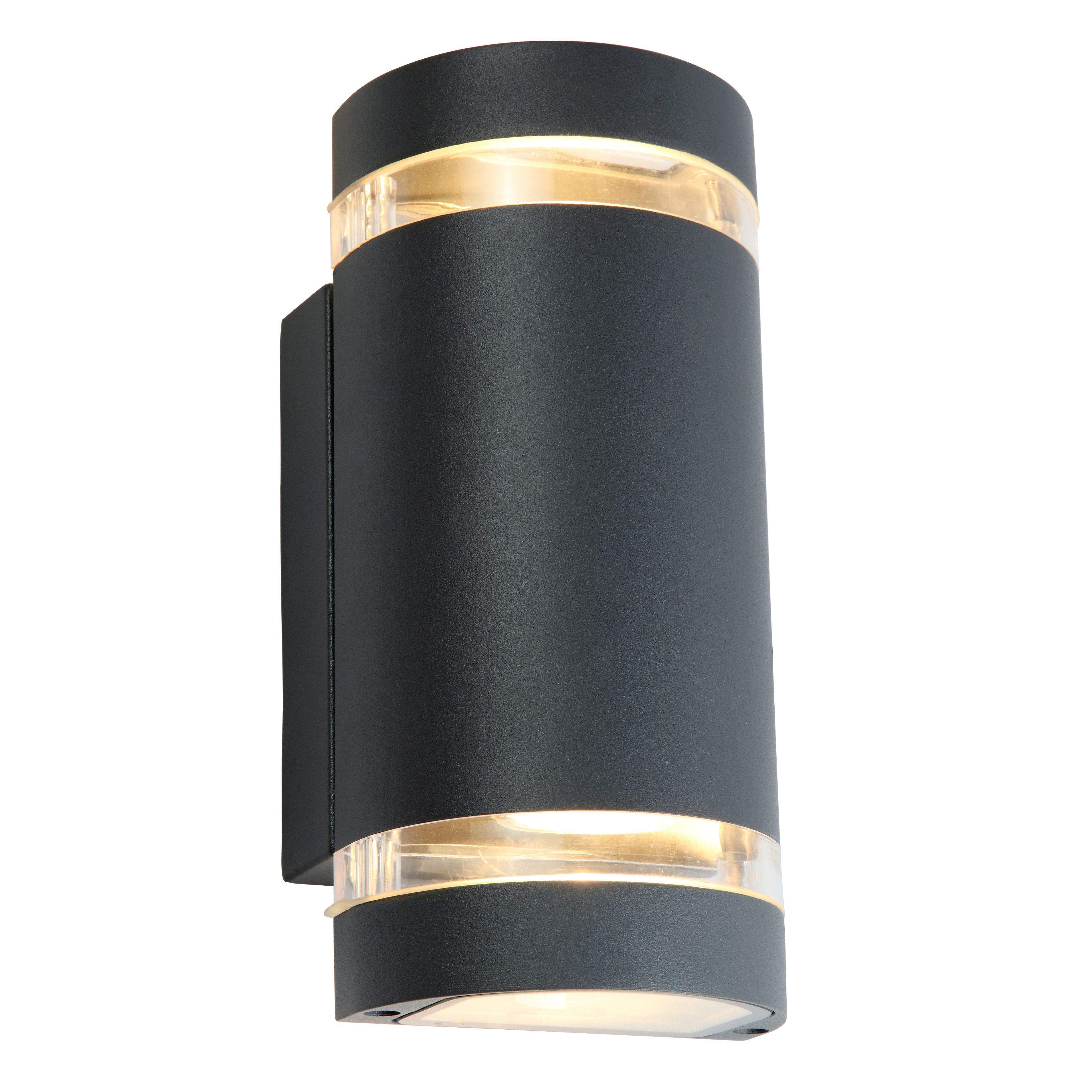 Blooma lua charcoal grey mains powered led wall light lights blooma lua charcoal grey mains powered led wall light lights walls and outdoor lighting workwithnaturefo
