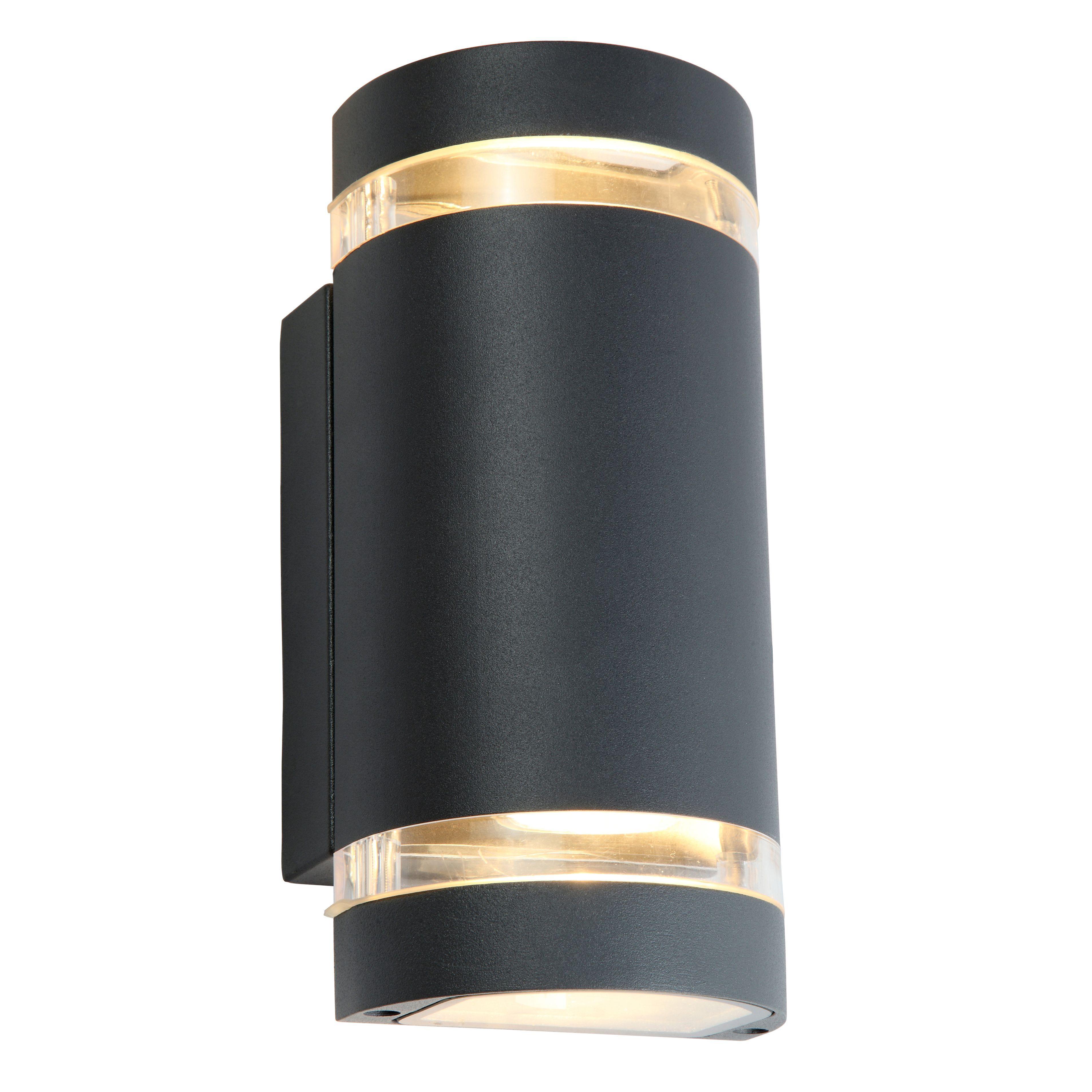 Blooma Lua Charcoal Grey Mains Powered Led Wall Light Departments Diy At B Q Wall Lights Diy Led Wall Lights Wall Lights