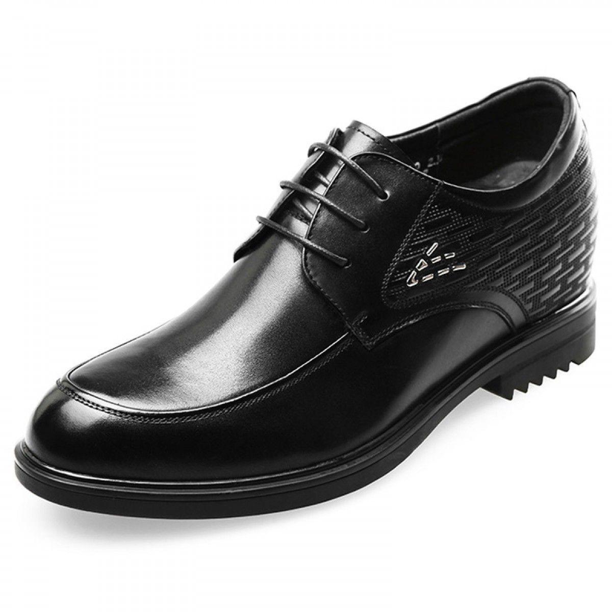 Premium Height Elevator Wedding Shoes Black Lace Up Formal Derbies Men 00453 01 Dress Shoes Men Shoes Mens Shoes With Shorts
