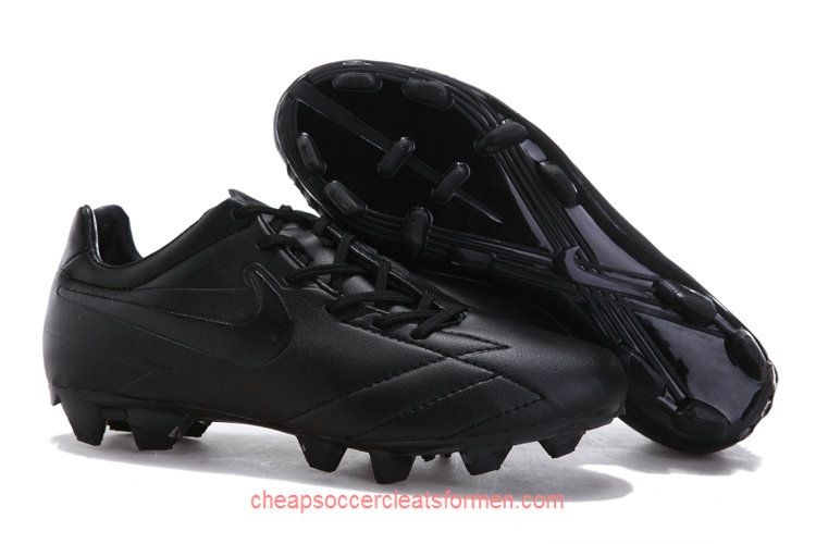 Nike T90 Laser IV ACC FG Soccer Cleats All Black  a877ce4a3b60