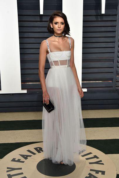 d845c07ad3 Nina Dobrev Oscars 2017 Red-Carpet Dresses