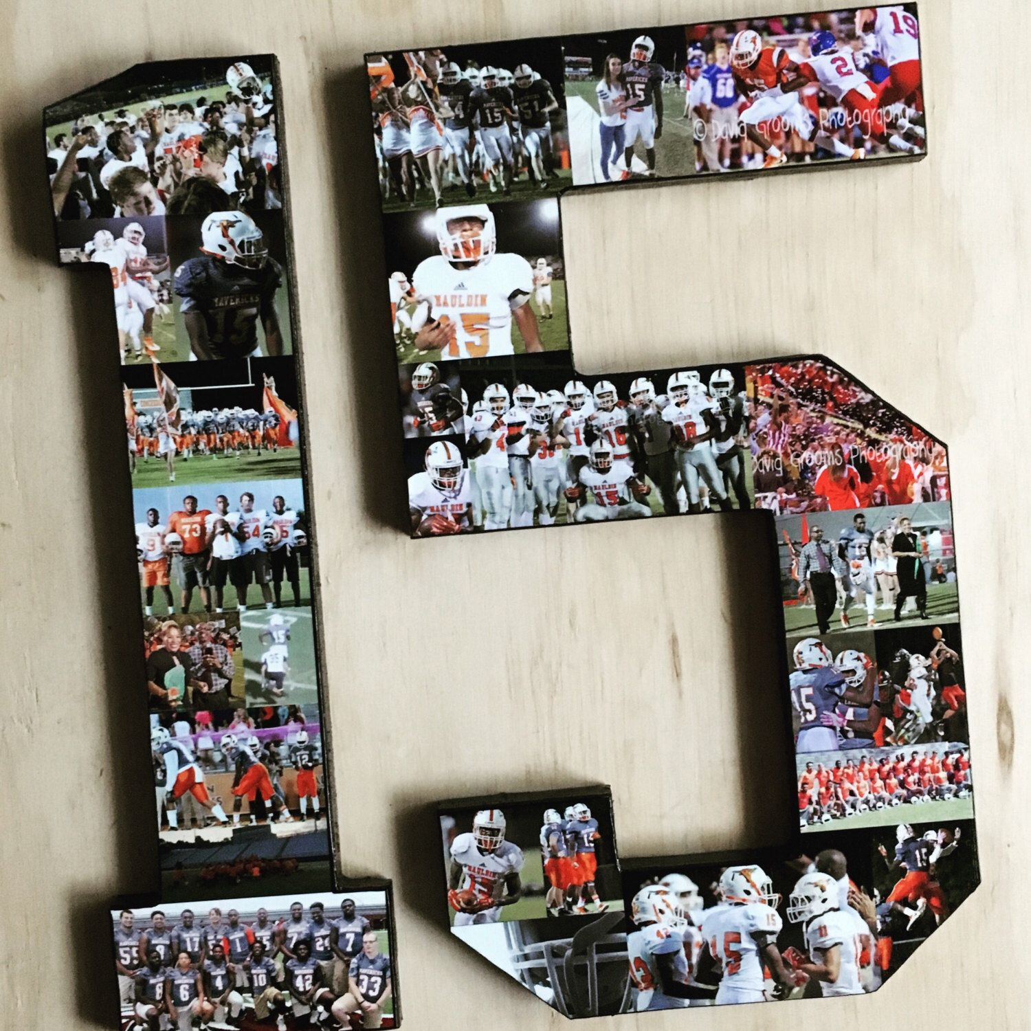 Photo Numbers Number Collage Customize For Your Favorite Athlete Or Milestone Birthday Photos In Shape Of Perfect Senior Night Gifts