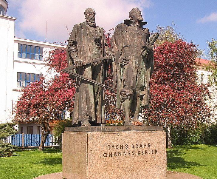 Brahe kepler.Çek Cumhuriyeti, Prag 'de Tycho Brahe ve Kepler'in Anıtı