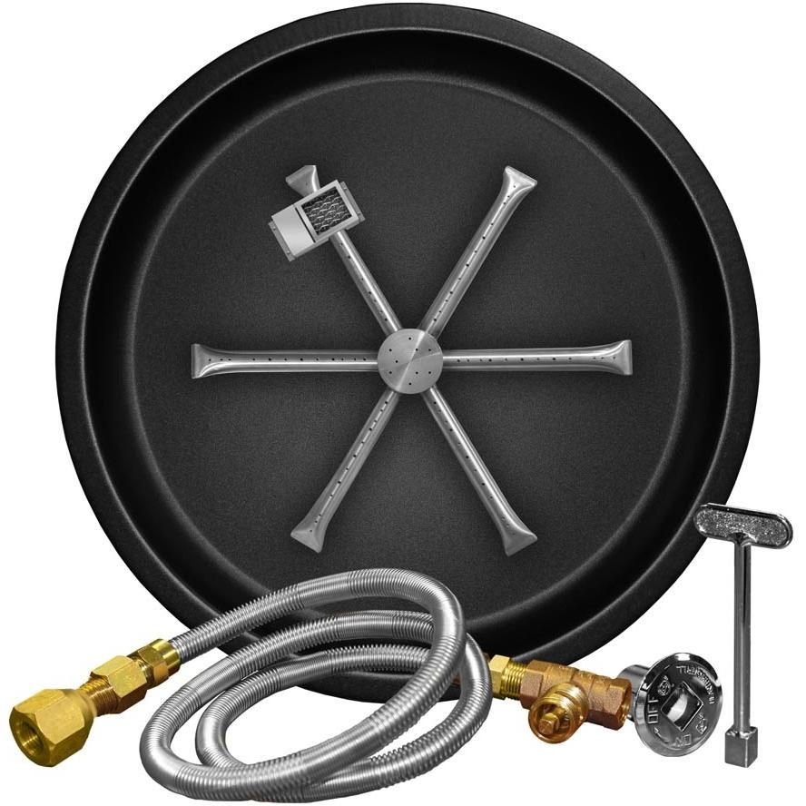 With a fire pit burner kit, building a fire pit has never been so simple.  This Burning Spur is constructed of 304 stainless steel to withsta. - Firegear 29-Inch G90 Series Round Burning Spur Natural Gas Fire Pit