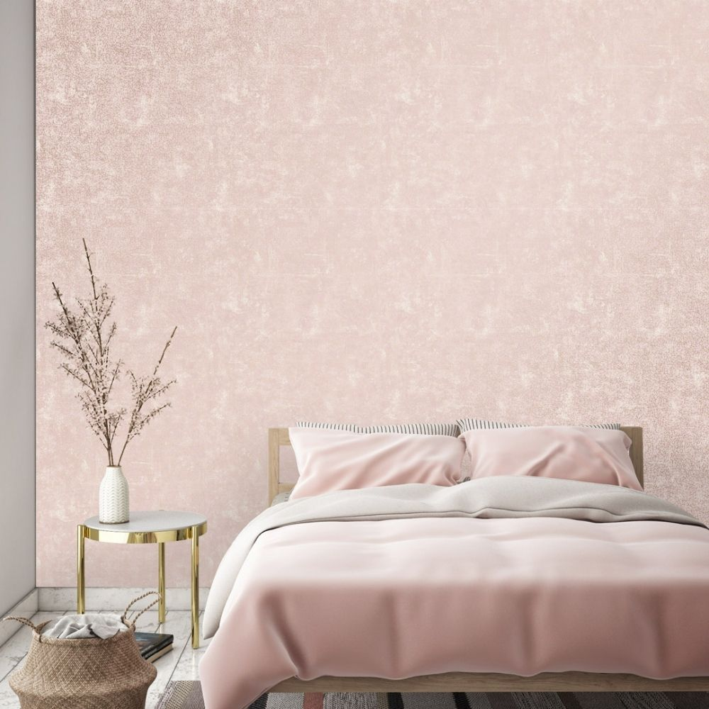 Crackle Wallpaper Pink Gold Pink Wallpaper Living Room Bed