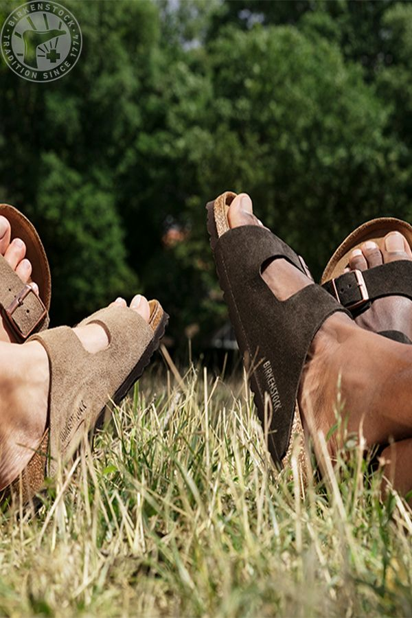 688356b0704 BIRKENSTOCK Sandals in taupe suede and mocha suede