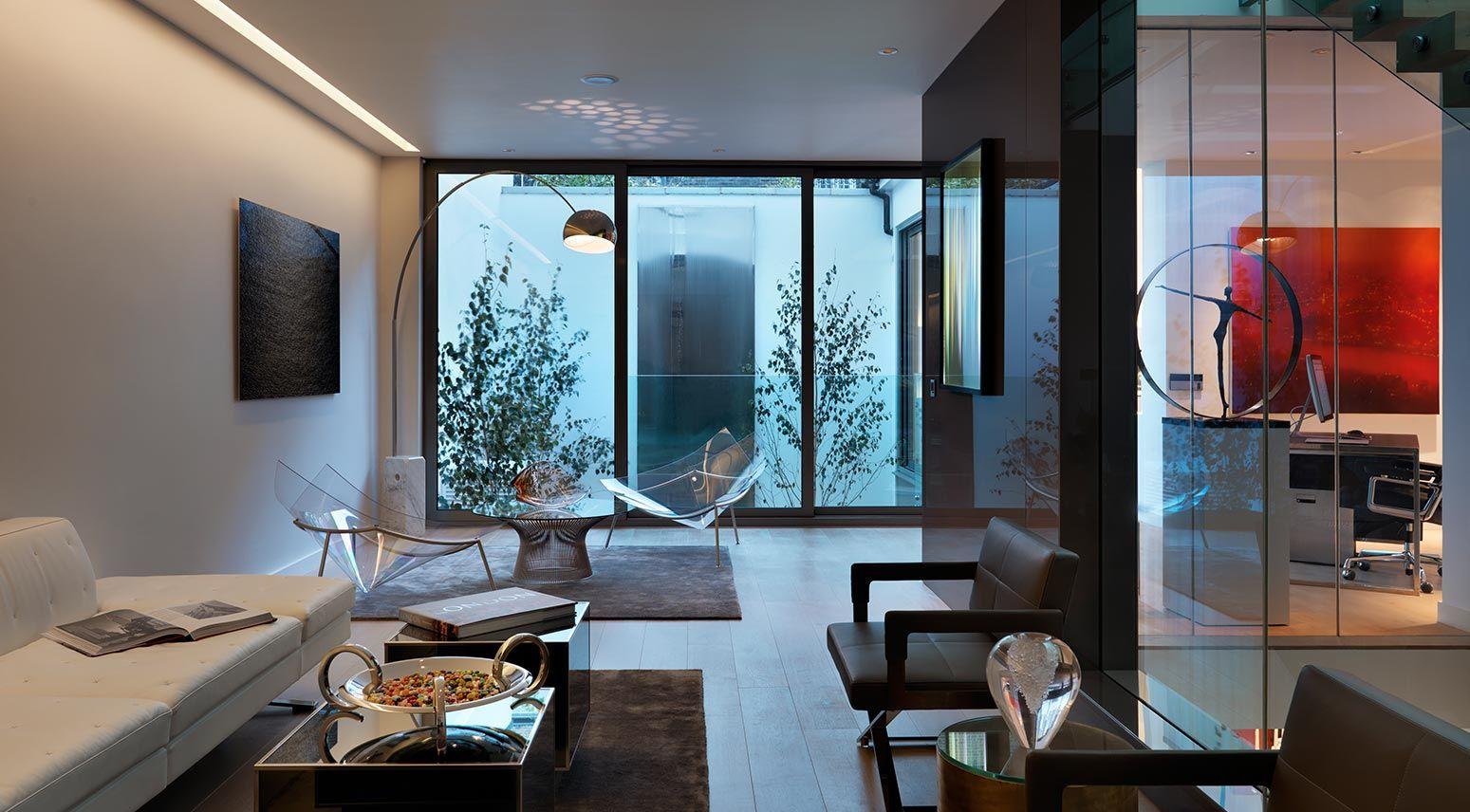 Innenarchitektur für schlafzimmer-tv-einheit devonshire mews contemporary interior design living room by