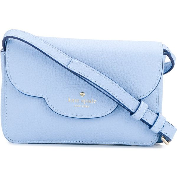 Kate Spade Fold Over Shoulder Bag 258 Liked On Polyvore Featuring Bags Handbags Blue Light Purse Leather