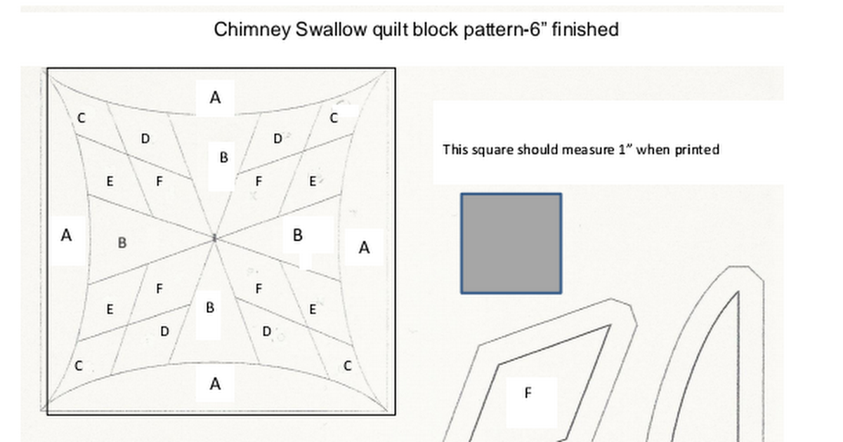 Chimney Swallow quilt pattern pdf | Quilting | Quilt patterns