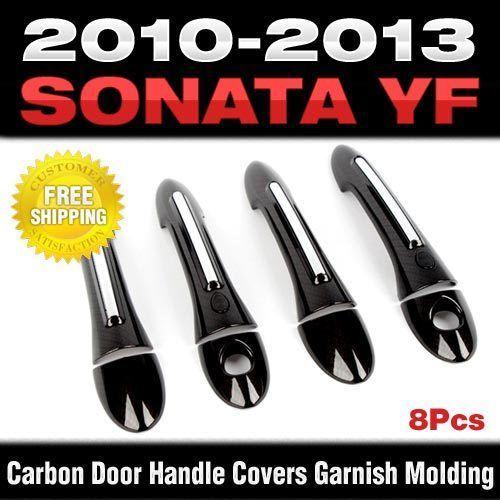 FOR HYUNDAI SONATA I45 YF 2011 2012 2013 2014 CHROME DOOR HANDLE COVER TRIM