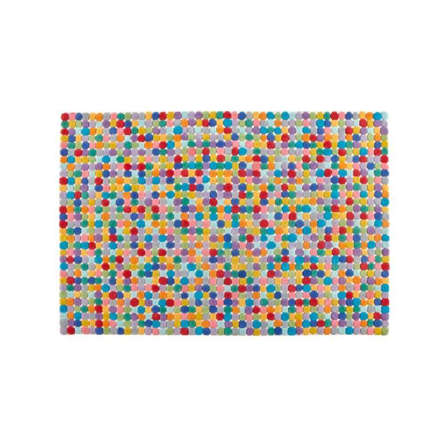 5x8' Rainbow Dot Rug + Reviews | Crate and Barrel
