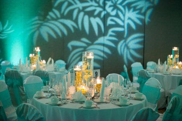 Beach theme decor for wedding