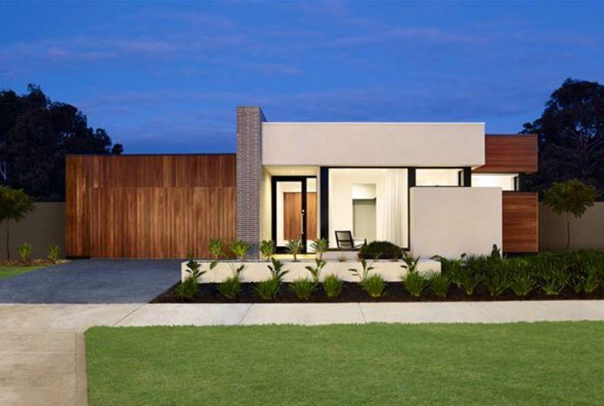 10 diseños de fachadas de casas modernas de un piso, exclusiva
