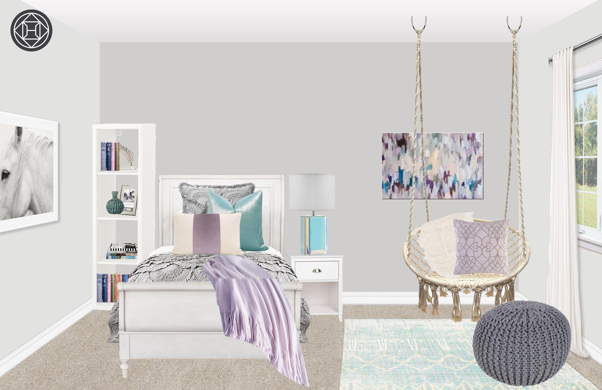 Contemporary, Preppy Bedroom Design by Havenly Interior ...