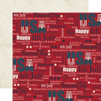 Fourth of July USA Scrapbook Paper