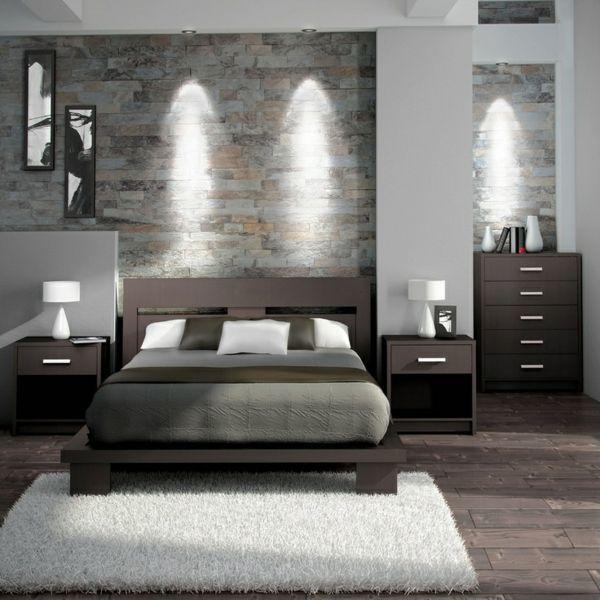 graues-luxuriöses-schlafzimmer-modern-gestalten | living, Schlafzimmer entwurf