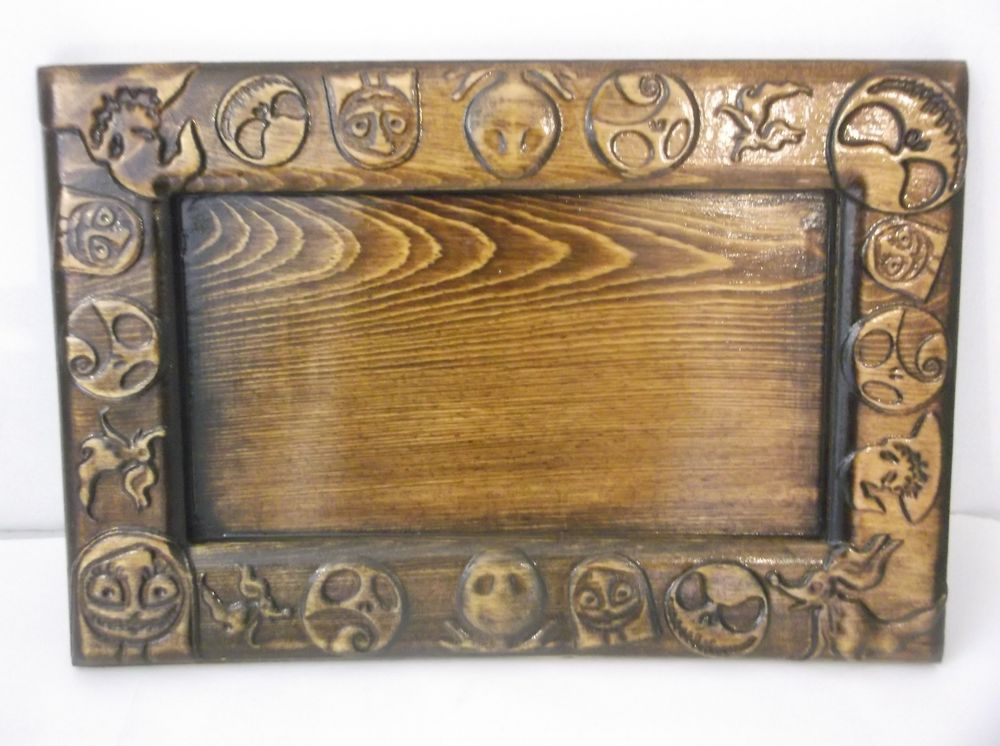 the nightmare before christmas  decorative  13.5 x 9 wood  tray