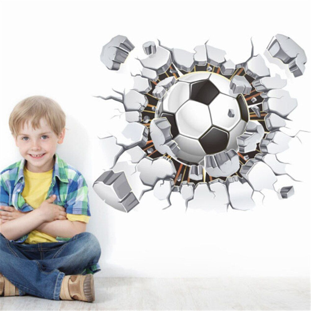 Football PVC Removable Wall Sticker Soccer Kid Boy Bedroom Wall Decal Home Decor