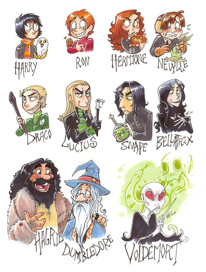 Hp Characters Harry Potter Photo Harry Potter Cartoon Harry Potter Drawings Harry Potter Images