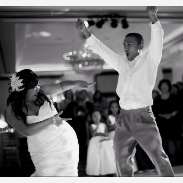 "Be true to yourselves - we made up our first dance to ""The Way I Are"" Timbaland"