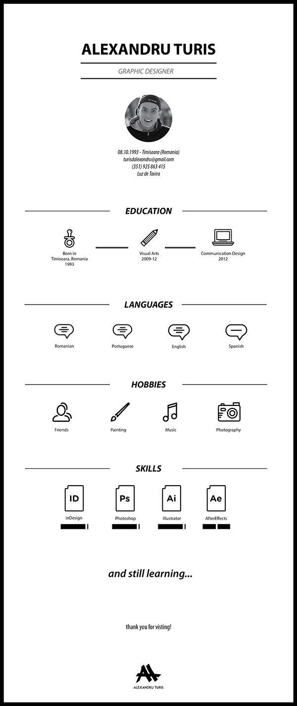 Curriculum Vitae on Behance | CV\'s | Pinterest | Currículum ...