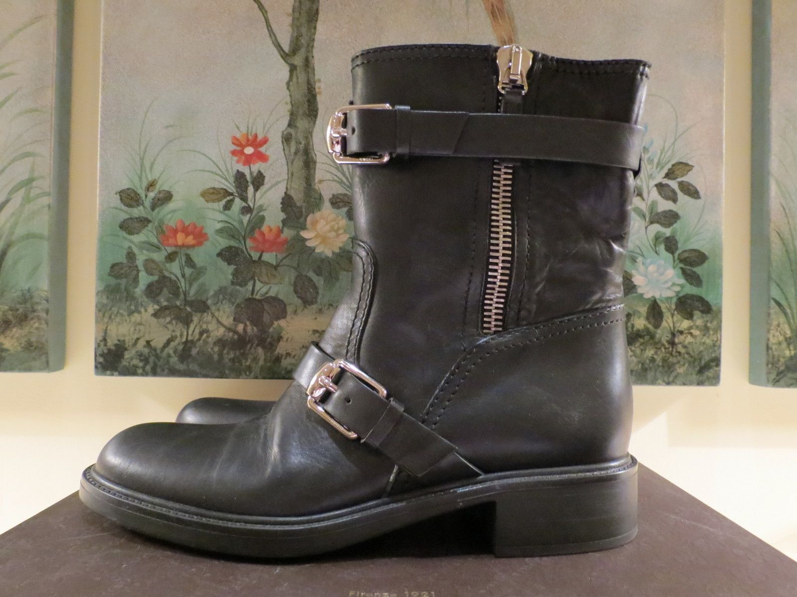 Gucci Moto Boots SOLD for $289.00 Ebay