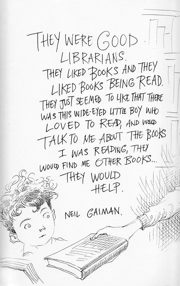 These Illustrated Neil Gaiman Quotes About Librarians Will Just