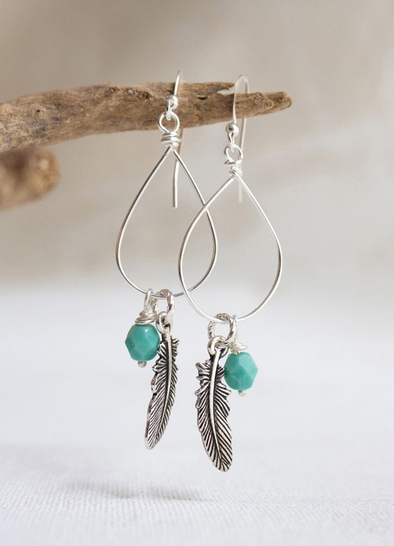 How to make Wire Wrap Drop Earrings | HANDMADE JEWERLY | Pinterest ...